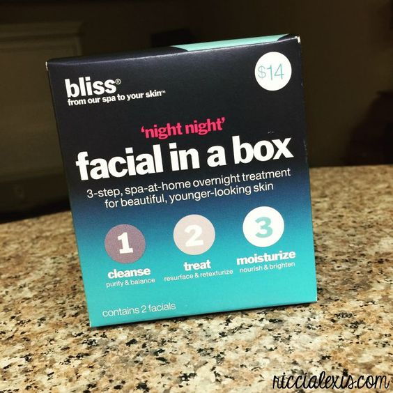 WILW: Bliss Night, Night Facial in a Box - Ricci Alexis