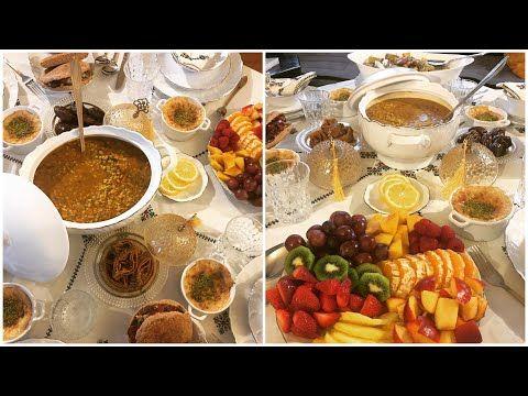 مائدة إفطار فاجئتهم بفطور بسيط ومتنوع من بعد المرض شوربة الشوفان خبيزات معمرين رز بالحليب Youtube