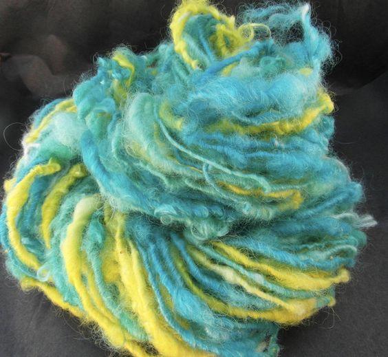 Wolle - Handgesponnenes und gefärbtes Garn - ein Designerstück von superflausch bei DaWanda
