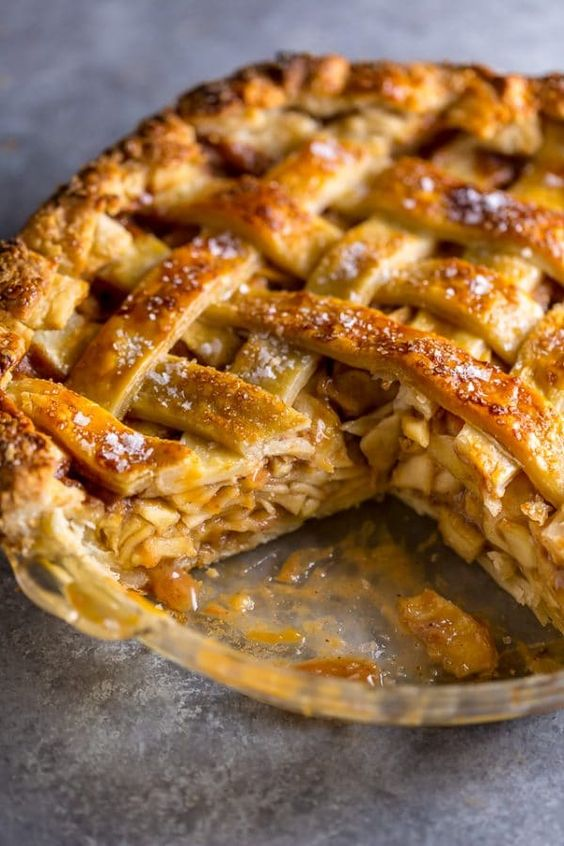 Salted Caramel Apple Pie - Baker by Nature