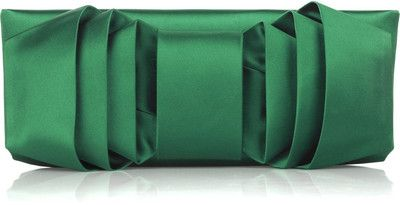 Valentino Satin bow-front clutch