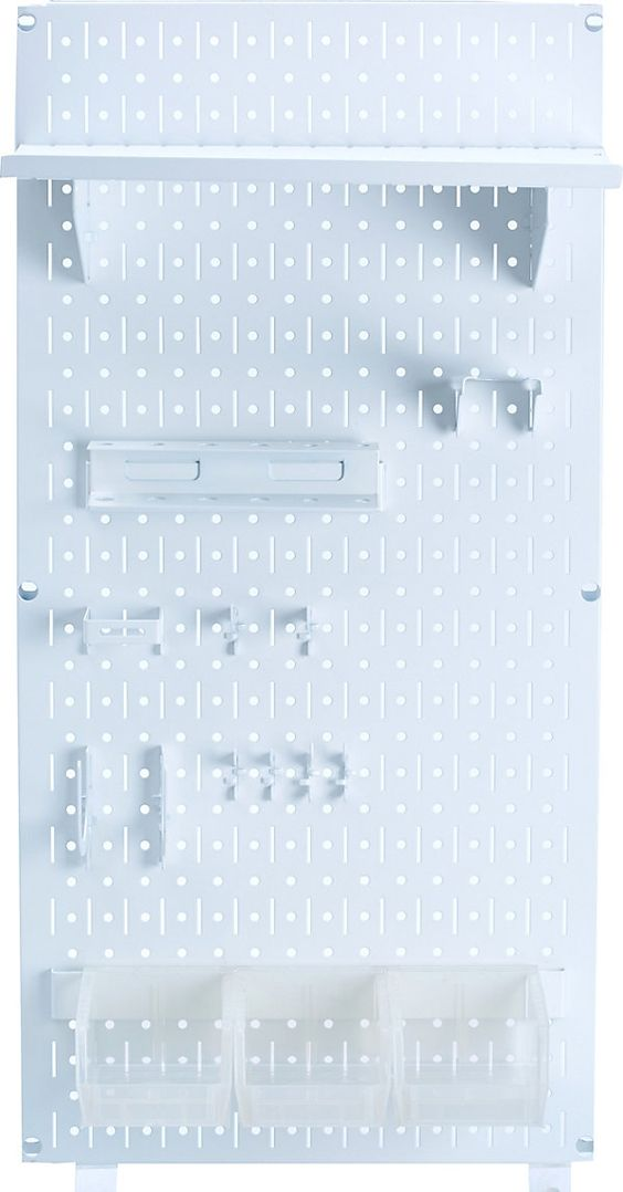 Metal Pegboard w/ Accessories, White | Get Crafty | One Kings Lane