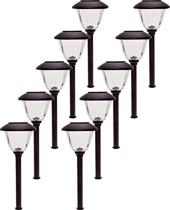 Energizer 10 Pack Stainless Steel Led Solar Path Lights Bronze Review Solar Path Lights Path Lights Stainless Steel Lighting