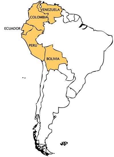 Resultado de imagem para colombia venezuela equador peru