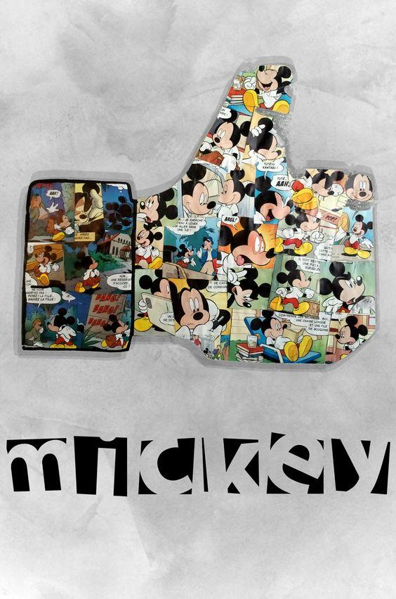 Like Mickey - collage de papier découper #Like #Mickey