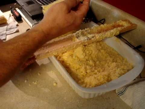 how to cut corn off the cob with a drill