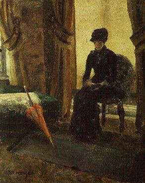 James Ensor : La dame sombre