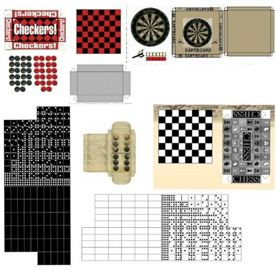 1000 Images About Miniature Printables On Pinterest: Miniature Printables - Games.