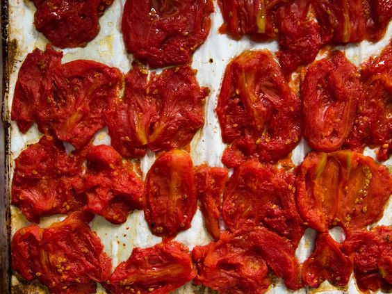Roasted Tomatoes Recipe | slow-roast them in a low oven until their excess water has evaporated and their flavor is intense and concentrated.