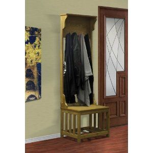 New Free Standing Mission Coat Rack Shoe Seating Entry