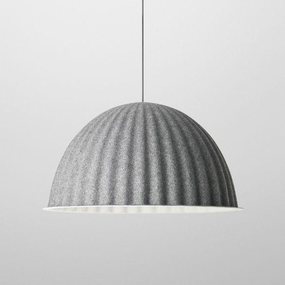 UNDER THE BELL Pendant Lamp In Acoustic Felt MUUTO Via