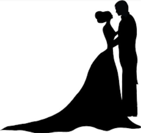 نتيجة بحث الصور عن ثيمات عريس وعروسه Bride And Groom Silhouette Couple Silhouette Silhouette Art