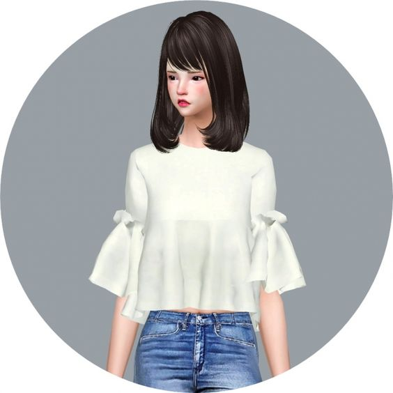 Ruffle Blouse at Marigold via Sims 4 Updates