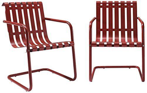 Crosley Furniture Gracie Retro Metal Outdoor Spring Chair Https Www Amazon Com Dp B07217wv2s Metal Outdoor Chairs Outdoor Chair Set Stainless Steel Chair