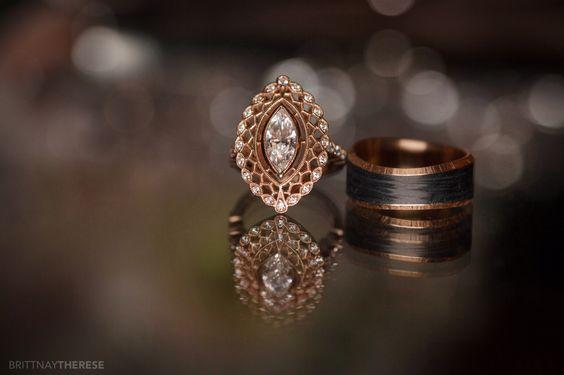 Wedding Rings Engaged Rose Gold Traveling Destination Wedding
