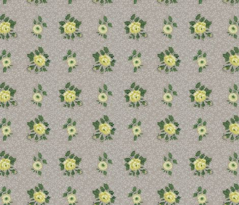 Vintage Floral Wallpaper fabric by jodielee on Spoonflower - custom fabric: