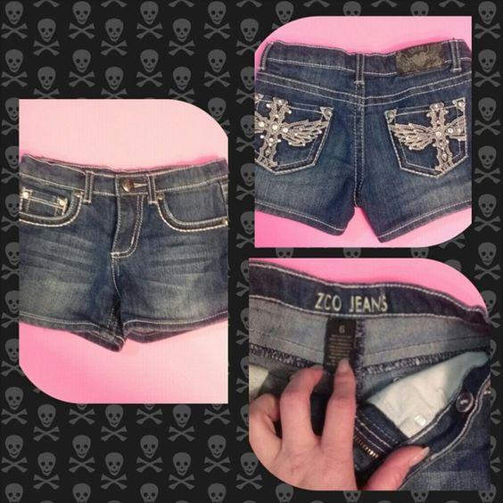 Girls denim shorts | Shorts, Wings and Nice