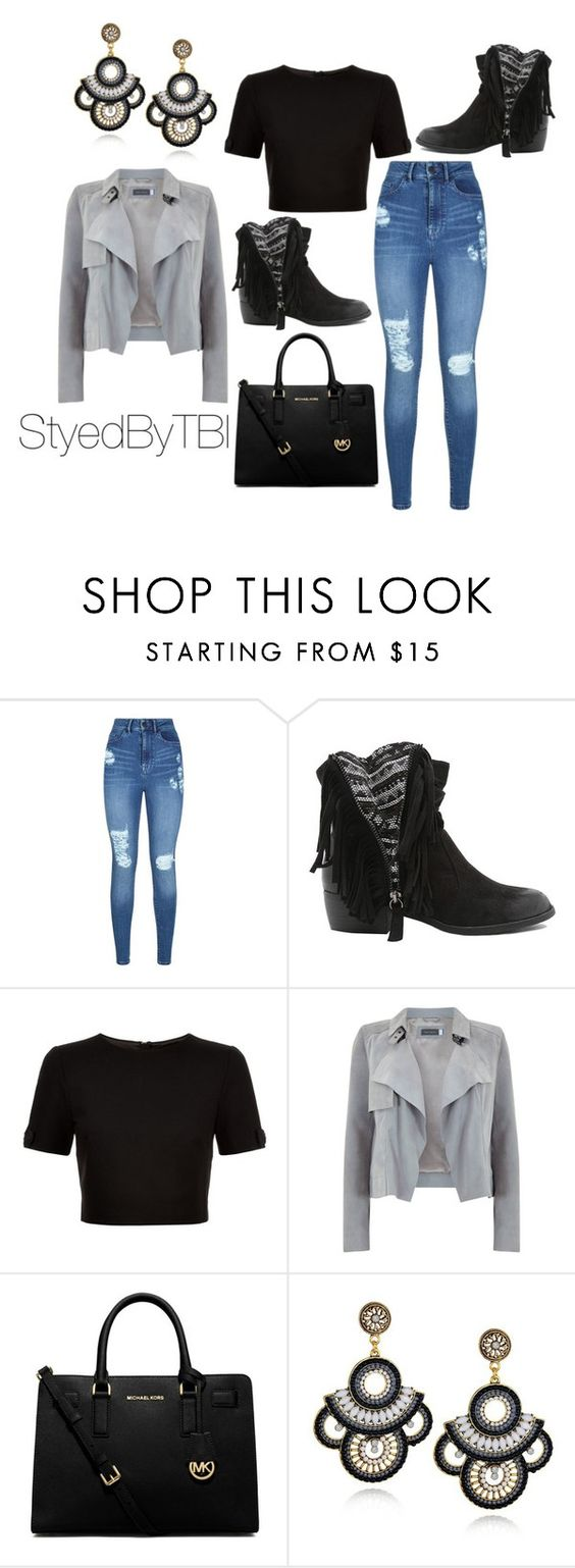 """""""Untitled #305"""" by styledbytbi on Polyvore featuring Lipsy, Qupid, Ted Baker, Mint Velvet and MICHAEL Michael Kors"""