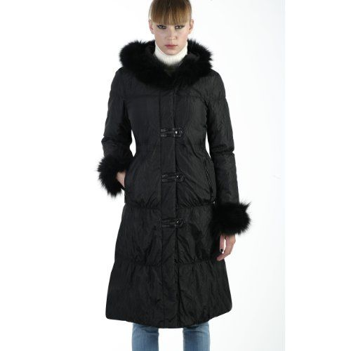 BGSD Women's Thinsulate Filled Hooded Long Coat with Fox Fur