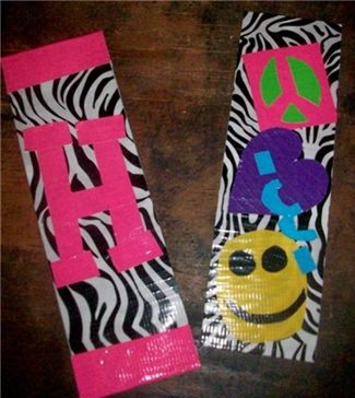 Placemat duct tape and bookmarks on pinterest for Duck tape craft book