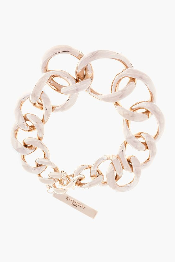 GIVENCHY Pale gold Symmetrical curb Chain Bracelet