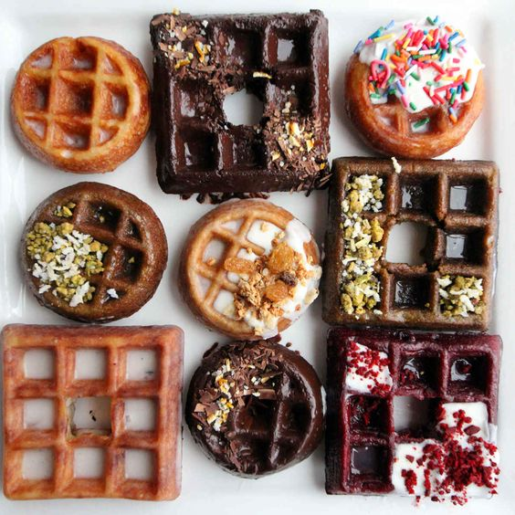 You can now get waffle-donuts (aka Wonuts) in Chicago - oh my gosh. Amazing.