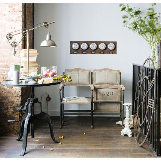 Banquette fauteuil strapontin chaplin maisons du monde - Lampe industrielle maison du monde ...