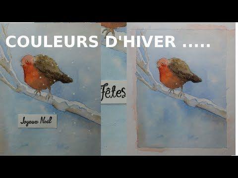 L Hiver Le Rouge Gorge Rouges Gorges Oiseau En Aquarelle