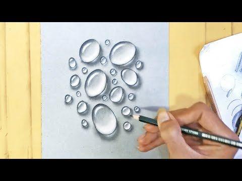Cara Menggambar Sketsa Pensil 3d Water Realist Di Kertas Kraft Youtube Drawing Menggambar Sketsa Warna