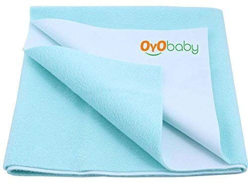 Oyo Baby Quickly Dry Sheet Cot Mattress Protector Mat Crib Sheets 140cm X 100cm Large Sea Blue Oyo Baby In 2020 Cot Mattress Mattress Protector Baby Mattress