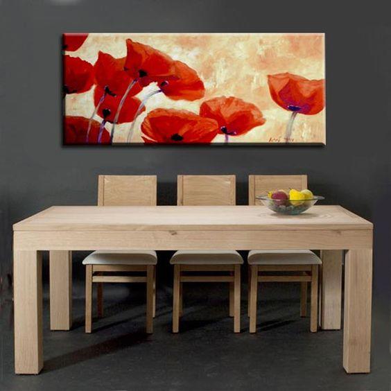Fiore arte pittura grande dipinto olio su tela di MiriLaveeArt