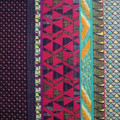 Tissu coton enduit Iroko