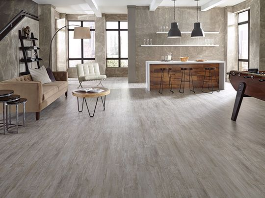 Tarkett Permastone Lvt In Reclaimed Grey Color Trend