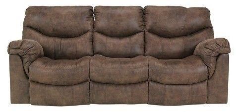 Alzena Reclining Sofa Gunsmoke   Signature Design By Ashley, Brown