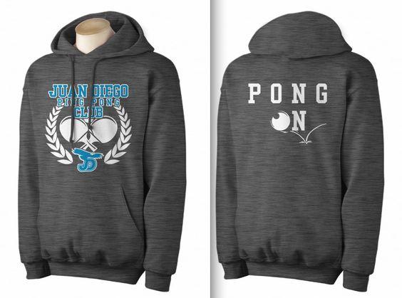 High School Ping Pong Club Hoodie And T-Shirt Design Idea