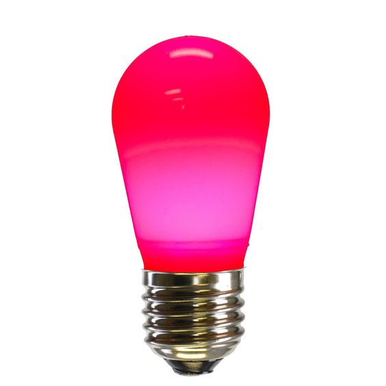 S14 LED Pink Ceramic Bulb E26 NK Base
