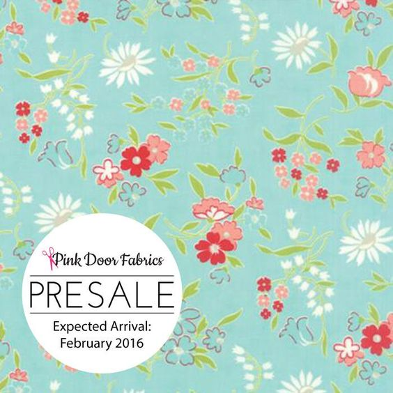 PRESALE - Vintage Picnic - Playful in Aqua - Bonnie and Camille for Moda - 55125 12 - 1/2 Yard