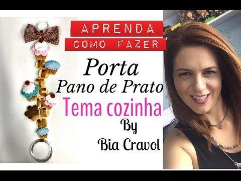 Porta Pano de Prato de Cupcake- Tema Cozinha - Biscuit - DIY _ Bia Cravol - YouTube