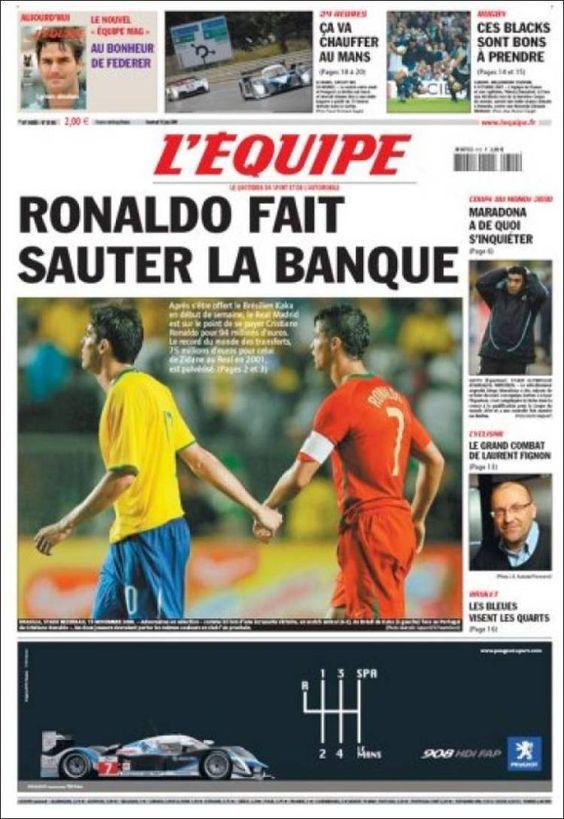 L'Équipe - Vendredi 12 Juin 2009 - N° 20062
