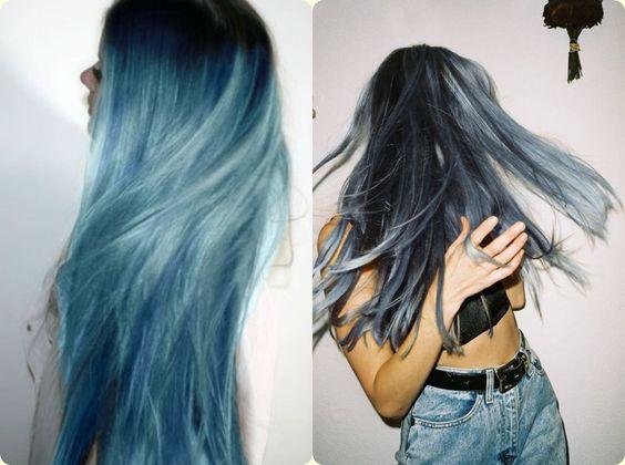 Resultado de imagem para cabelos azul pastel