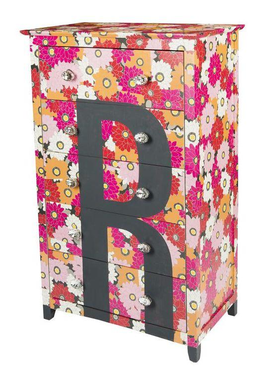 Monogram, stripes, or decals. 3 dresser makeovers no matter how much free time you have. #HGTVMagazine #DIY http://www.hgtv.com/decorating-basics/3-fun-dresser-makeovers/pictures/index.html?soc=pinterest
