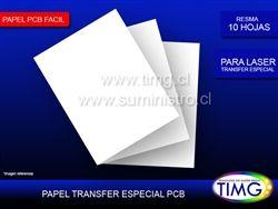 Para impresion de circuitos impresos tenemos el papel PCB fácil, lo imprimes y luego transfieres a la tarjeta - http://www.suministro.cl/product_p/2021020011.htm