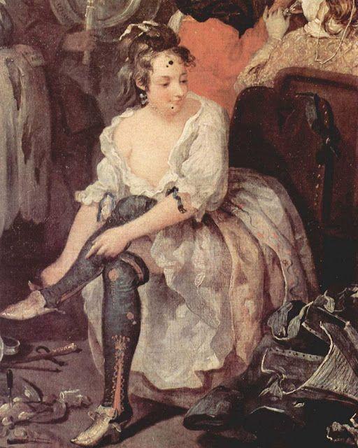 William Hogarth - A Rake's Progress - The Rose Tavern a brothel in Covent Gardens - via ekduncan.com: