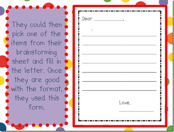 Persuasive letter writing form
