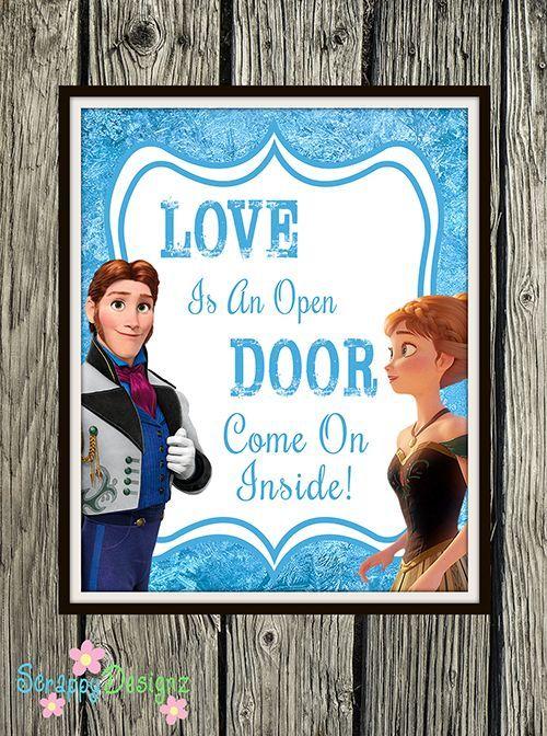 Frozen Inspired Karaoke Party Printables Love Is An Open Door 8 X 10 Pos Frozen Birthday Party Printables Disney Frozen Birthday Party Frozen Theme Party