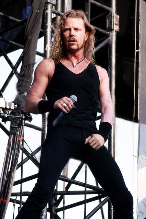 James Hetfield- era of Jame's best voice and body...energy/testosterone youth one of his layers