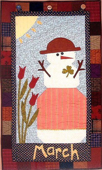 Folk Art Quilt Ideas : Joined at the Hip - Folk Art Quilt Designs and Original Patterns Holidays - SPRING - Hearts ...