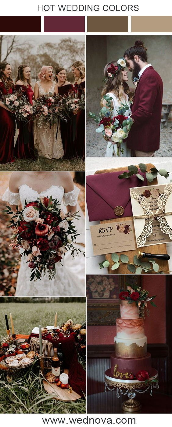 Burgundy wedding color inspiration weddingwedding color wedding ...