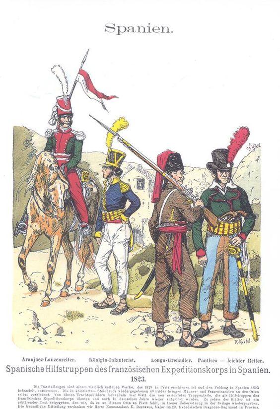 Band XIV #5.- Spanische Hilfstruppen des französischen Expeditionskorps in Spanien 1823.