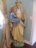 Saint Ann and Mother Mary Statue. amazing.